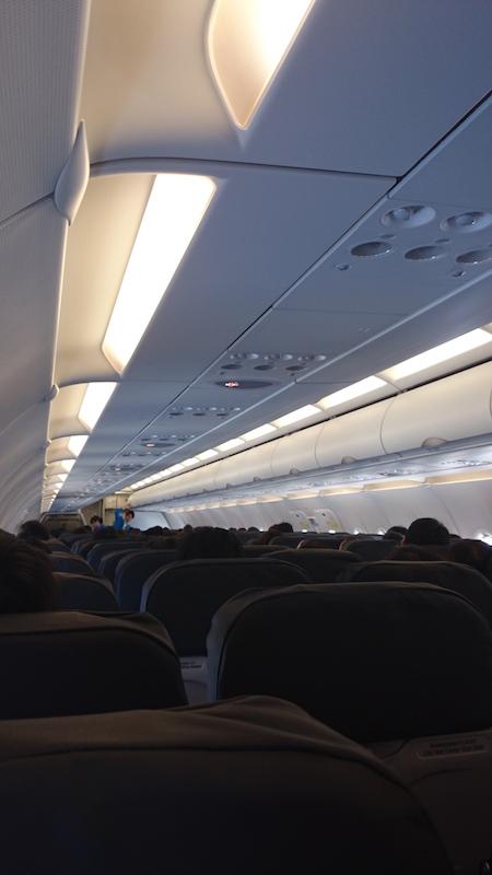 香草的座位真的蠻窄的,但廉價航空嘛,只要安全把我們載到目的地就好。