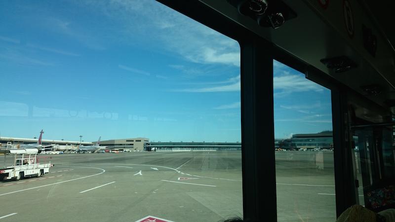 成田機場的接送巴士。由利木津巴士 (Bus Limousine) 負責。