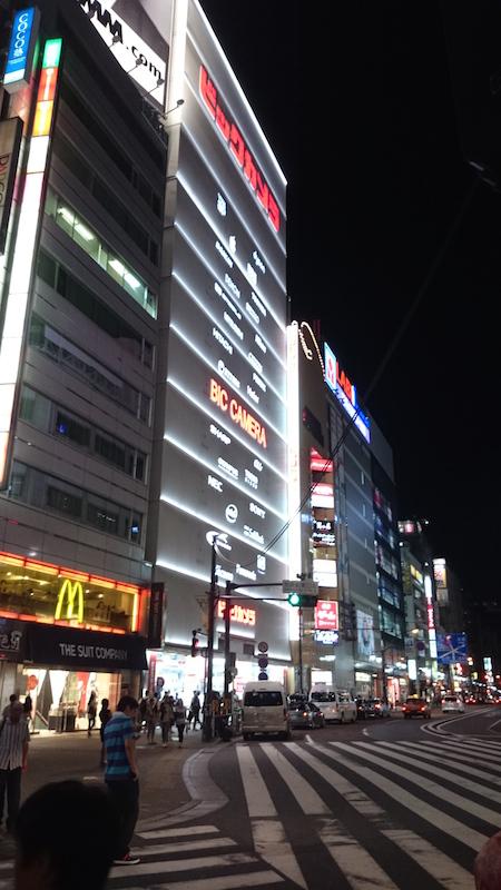 東京的 3C 賣場一家都可以做到一棟大樓等級