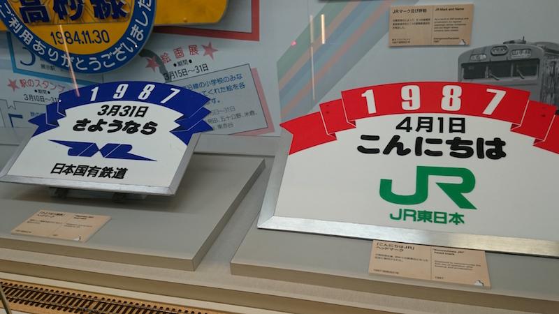 1987 年,國鐵民營化,JR 成立的重要一年。